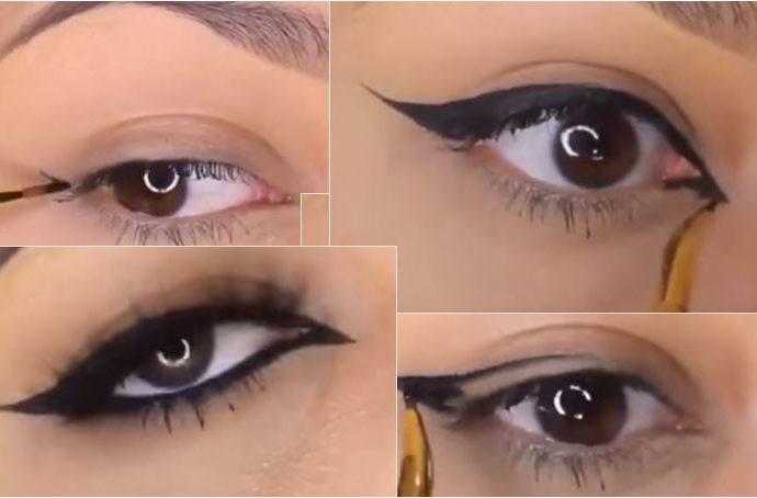как сделать стрелки на глазах
